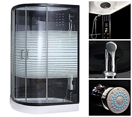 Home-Deluxe-Black-Pearl-120x80-cm-links-Duschtempel-inkl-Dampfsauna-und-komplettem-Zubehr-0