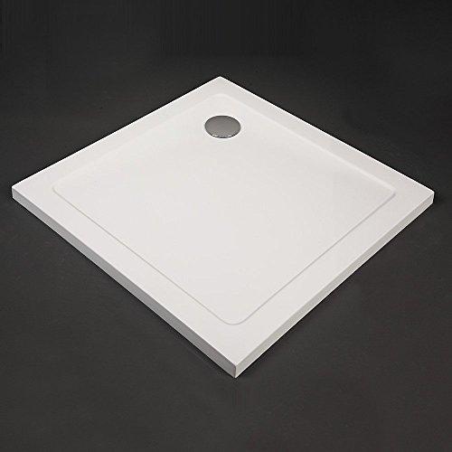 Home Deluxe extraflache rechteckige Duschtasse (80x80cm)