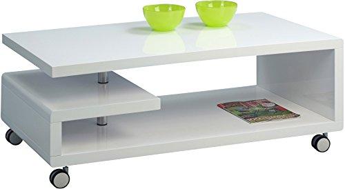 HomeTrends4You 168050 Couchtisch, 115 x 42 x 60 cm, weiß Hochglanz
