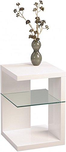 HomeTrends4You-516250-Beistelltisch-Nachttisch-40-x-60-x-40-cm-wei-Hochglanz-0