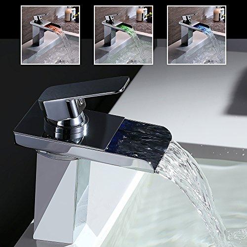 Homelody-LED-RGB-Farbwechsel-Wasserfall-Armatur-Chrom-Einhebel-Wasserhahn-Zeitgenssisch-Waschbecken-Badarmatur-Waschtisch-0