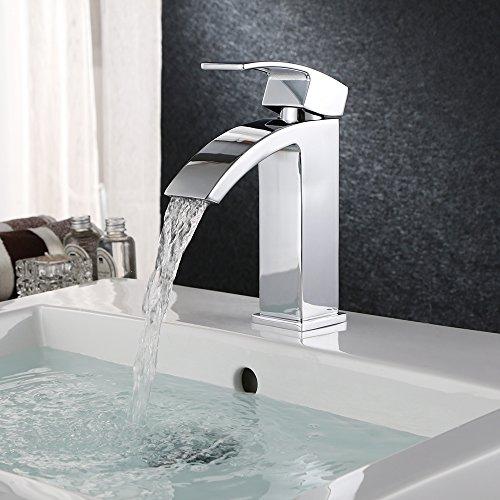 Homfa-Waschtischarmatur-Wasserfall-Einhebel-Einhandmischer-Mischbatterie-Wasserhahn-Armatur-fr-Bad-Badezimmer-Waschbecken-verchromt-HF001-0