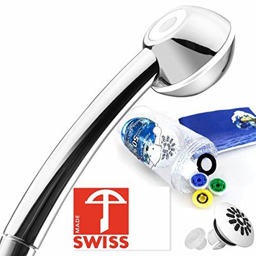 I-SHOWER-Duschkopf-Set-Duschbrause-mit-hohem-Druck-krftigem-Massagestrahl-antikalk-3-Wasserspar-Einstze-fr-4-Durchflussmengen-Softspray-Aufsatz-fr-weichen-Regenstrahl-Schweizer-Produktion-vom-Testsieg-0