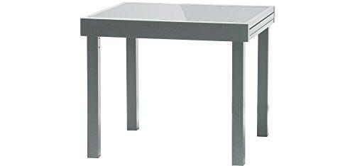 IB-Style-DIPLOMAT-Gartentisch-XL-Aluminium-SILBERMATT-Premium-Ausziehtisch-90-180-cm-Gartentisch-0