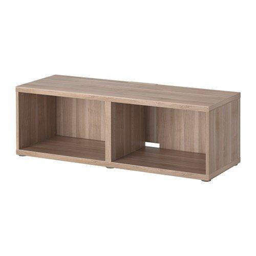 IKEA BESTA TV-Bank grau lasierte Nussbaumnachbildung; (120x40x38cm)