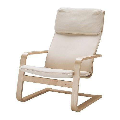 IKEA-Schwingsessel-PELLO-Sessel-Freischwinger-Loungechair-Birke-Stahl-0