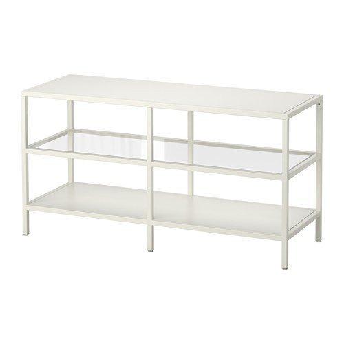 IKEA VITTSJÖ TV-Bank in weiß; (100x53cm)