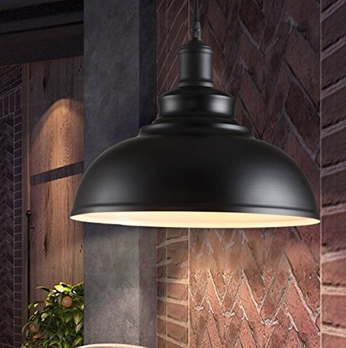 Industrie-Vintage-Pendelleuchte-Orient-Design-1x-E27-max-60W--30-cm-Hhe-100CM-Schwarz-Metall-0