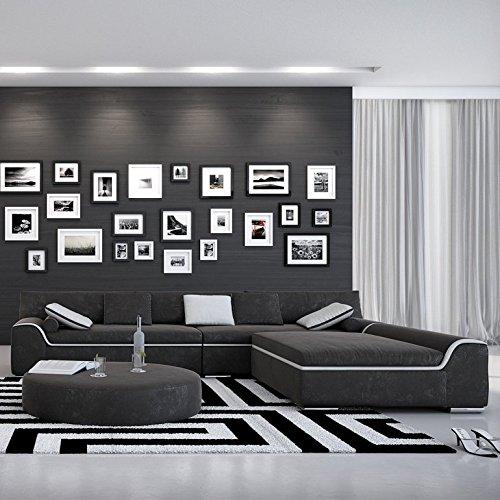 Innocent Wohnlandschaft Azuleum Corner schwarz / weiß