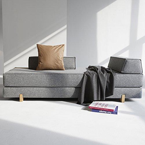 Innovation Schlafsofa DB Drip Eiche Idouble Wood Textil grau