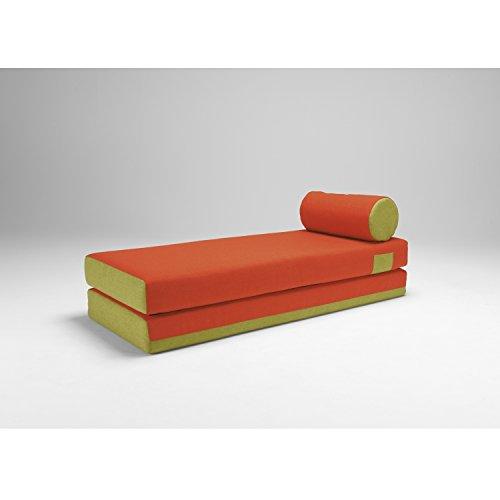 Innovation Schlafsofa DUBOX 02, Schlafcouch orange/grün