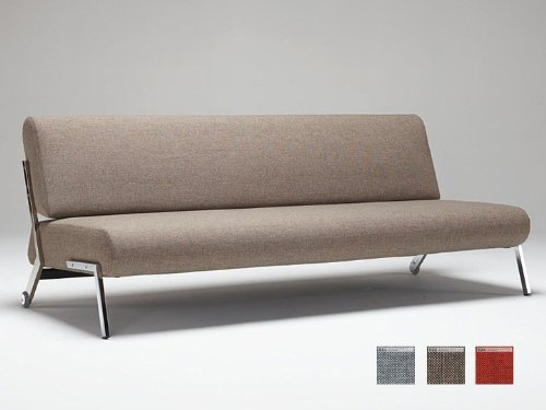 Innovation Schlafsofa Debonair Chrome Textil Mixed Dance rot