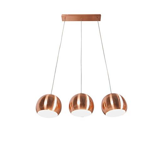 Invicta Interior Copper Ball Hängeleuchte 3-er Set, 20 cm, kupfer 22975