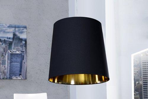 Invicta Interior Dark Sapphire XXL Hängeleuchte, 45-55 cm, schwarz / gold 8329