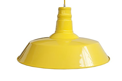 Invicta Interior Luca Industrieleuchte, 45 cm, gelb 22872