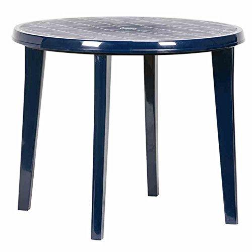 JARDIN 137213 Tisch Lisa, Vollkunststoff ø 90 x H 73 cm, blau