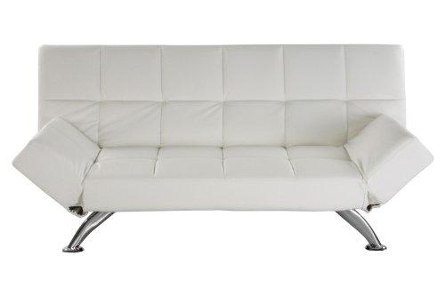 JOB Schlafsofa PLAZA in weiß Design mit attraktiver Steppung