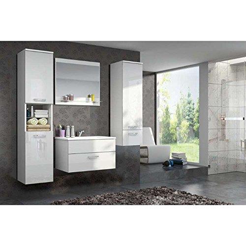 JUSThome-DELA-Badezimmerset-Badmbelset-Waschplatz-4-teilig-Farbe-Wei-Wei-Hochglanz-0