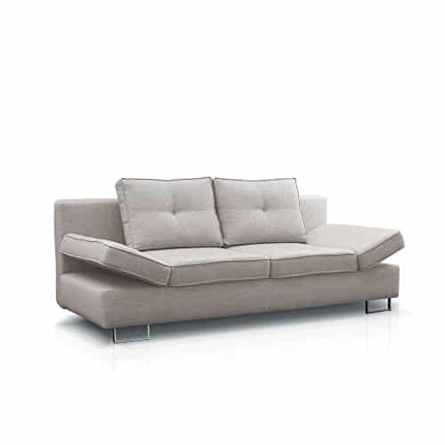 JUSThome MARTINA Einzelsofa Sofa Schlafsofa Strukturstoff (LxHxB): 210x74-86x100 cm große Farbauswahl