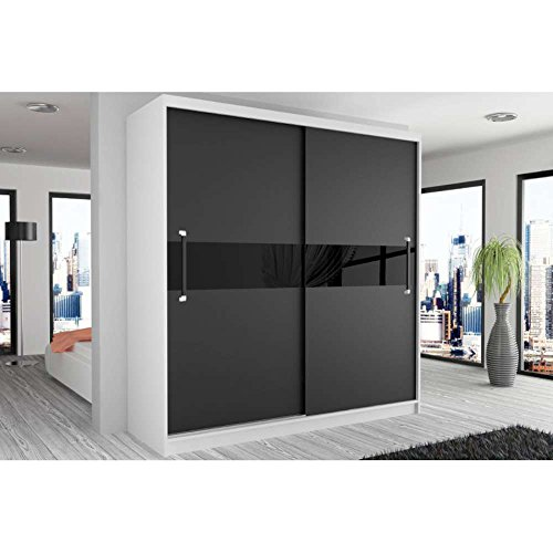 justhome simply ii schwebet renschrank kleiderschrank. Black Bedroom Furniture Sets. Home Design Ideas