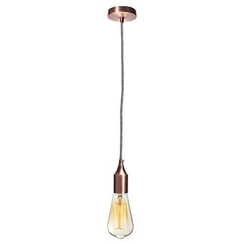 kingso e27 lampenfassung edison pendelleuchte h ngelampe halter diy lampe zubeh r im vintage. Black Bedroom Furniture Sets. Home Design Ideas
