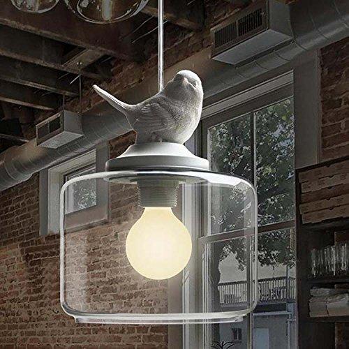KJLARS-Retro-LED-Metall-Pendelleuchte-Vintage-Hngelampe-mit-Glas-Lampenschirm-Leuchtmittel-im-Balkon-0
