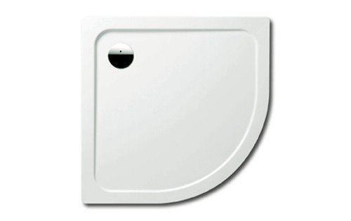 Kaldewei Arrondo Viertelkreis-Duschwanne Stahl weiß 90 x 90 x 2,5 cm 460048040001 inkl. Styroporträger / Wannenträger