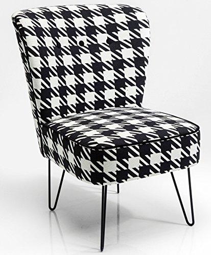 Kare-Design-Sessel-schwarz-weiss-kariert-Fuesse-aus-Eisen-Florida-Pepita-0