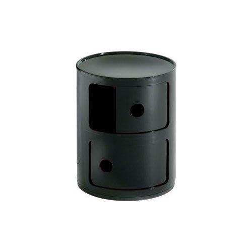 Kartell-496609-Container-Componibili-schwarz-0