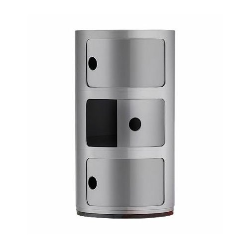 Kartell-4967SI-Container-Componibili-silber-0