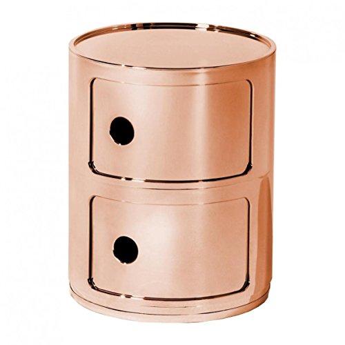 Kartell Componibili 2 Container, kupfer glänzend