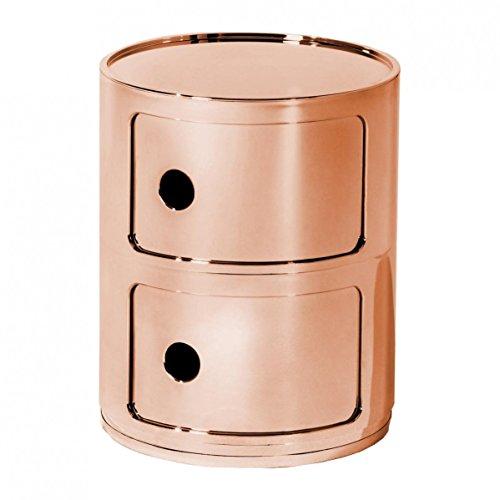 Kartell Componibili 2 Metallic Container, kupfer glänzend