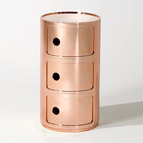 Kartell Componibili 3 Metallic Container, kupfer glänzend