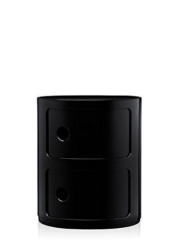 Kartell-Componibili-Container-2-Elemente-schwarz-Anna-Castelli-Ferrieri-Design-Container-0