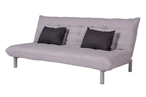 Kasper-Wohndesign KA107773 Schlafsofa, Stoff, grau, 190 x 100 x 85 cm