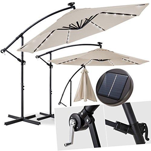 Kesser Alu Ampelschirm Ø 300 cm ✔mit Kurbelvorrichtung ✔UV-Schutz ✔Aluminium ✔wasserabweisende Bespannung - Sonnenschirm Schirm Gartenschirm Marktschirm