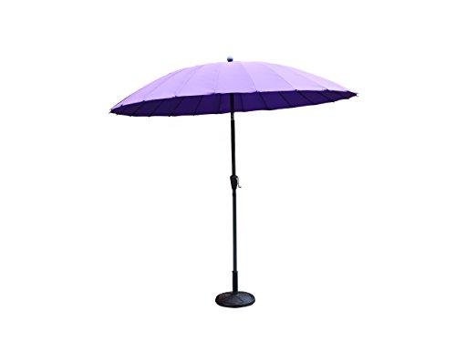 Kingfisher violett 2,6m x 2,6m Aluminium Shanghai Sonnenschirm mit Kurbel und Tilt Outdoor Garten Patio-Möbel