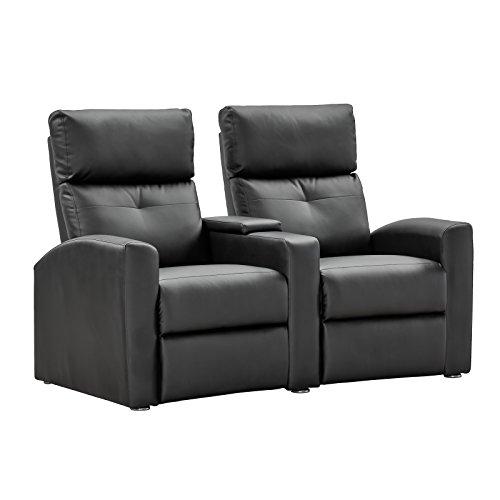 Kinosessel 2er Sitzer Doppelsessel von MACO Cinema Sessel Relaxfunktion schwarz