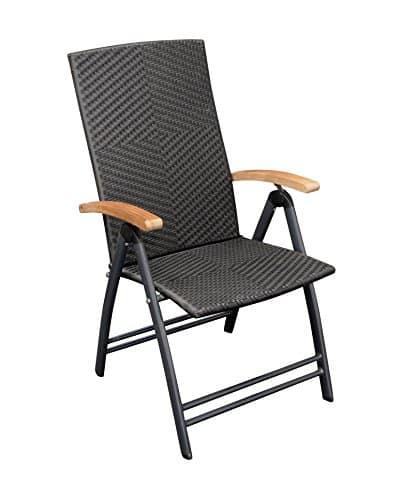 klappsessel aluminium grau rattan geflecht schwarz armlehnen teakholz m bel24. Black Bedroom Furniture Sets. Home Design Ideas