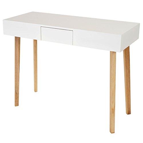 Kommode-Malm-T268-Beistelltisch-Schrank-Retro-Design-83x105x45cm-Schublade-wei-0