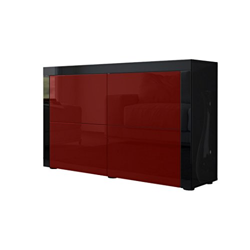 kommode sideboard la paz v2 in schwarz hochglanz. Black Bedroom Furniture Sets. Home Design Ideas