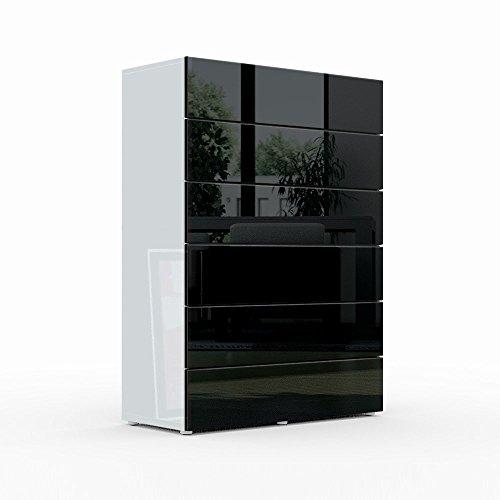 kommode sideboard massa v3 in wei schwarz hochglanz. Black Bedroom Furniture Sets. Home Design Ideas