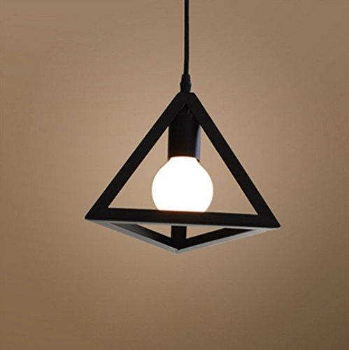 Kreative-Hngeleuchte-Pendelleuchte-Metall-Symmetrische-geometrische-Form-E27-Fassung-1-x-E27-Max-60W-27cm-Schwarze-0