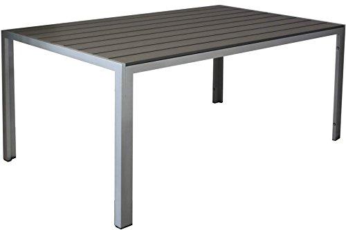 Kynast-Aluminium-Gartentisch-150-x-90-cm-Anthrazit-silber-0