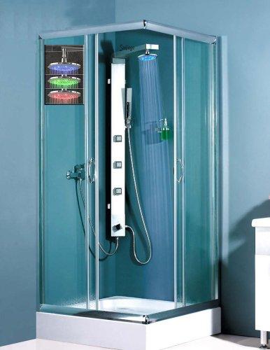 LED Aluminium Duschpaneel Duschsäule mit Massagedüsen von Sanlingo