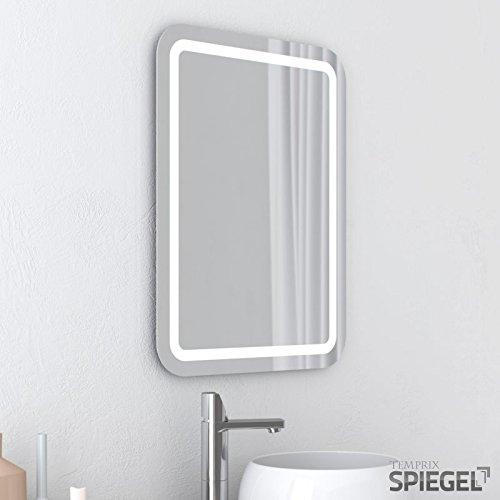 LED Badspiegel beleuchtet Perfekt Badezimmerspiegel mit Beleuchtung 80 x 60 cm