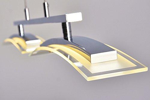 led h ngeleuchte tarumo 2 x 8 watt lumen 3000 kelvin lichtfarbe warmweiss mit dimmer. Black Bedroom Furniture Sets. Home Design Ideas