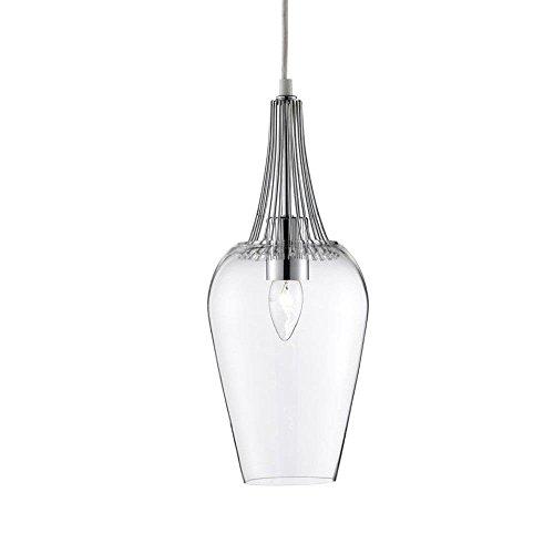 LED-Pendelleuchte-Vintage-Whisk--16cm-chrom-mit-klarem-Glas-0
