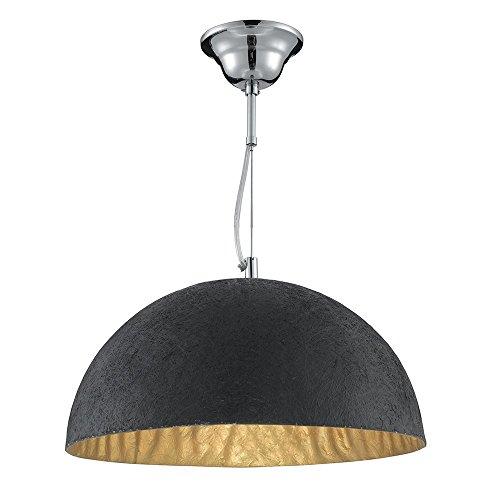 LED-Pendelleuchte-modern-Kuppel--38cm-schwarz-gold-0