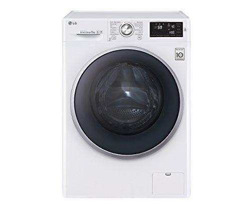 LG Electronics F 14U2 VDN1H Waschmaschine FL/A+++/152 kWh/Jahr/1400 UpM/9 kg/9500 L/Jahr/weiß/14 vorprogrammierte Programme/Smart Diagnosis